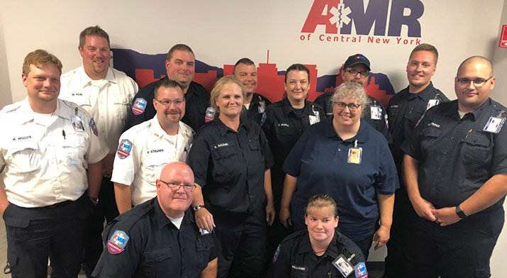 AMR team members recently completed the first class offering of the Critical Care Paramedic Transport Program.