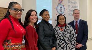 Twiggy Eure, Kimberly Boynton, Jeanette Epps, Deputy Mayor Sharon Owens and Seth Kronenberg, MD