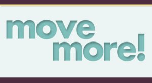 graphic that says move more