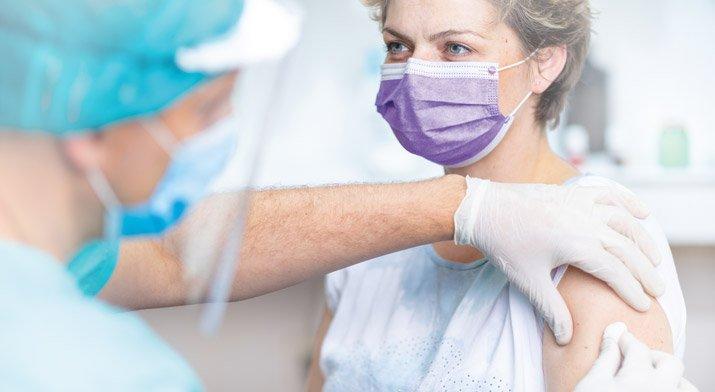 patient receives a flu shot