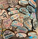 rocks with inspirational messages