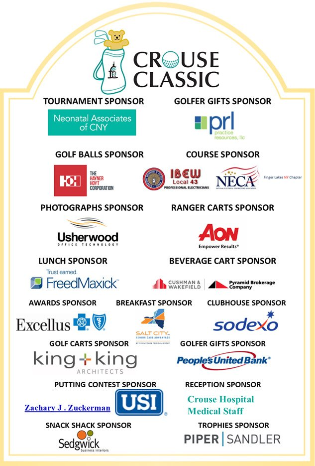 Crouse Classic Sponsors 2021