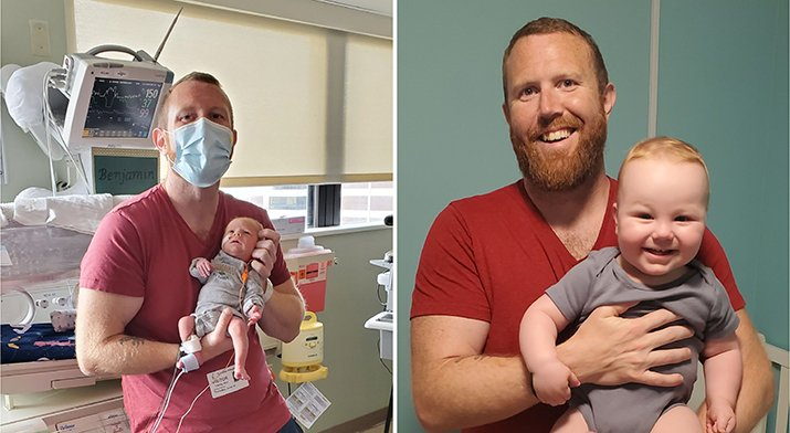 Josh Newfield and Baby