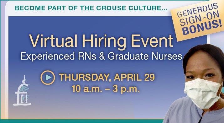 RN Virtual Hiring Event 4-29-21