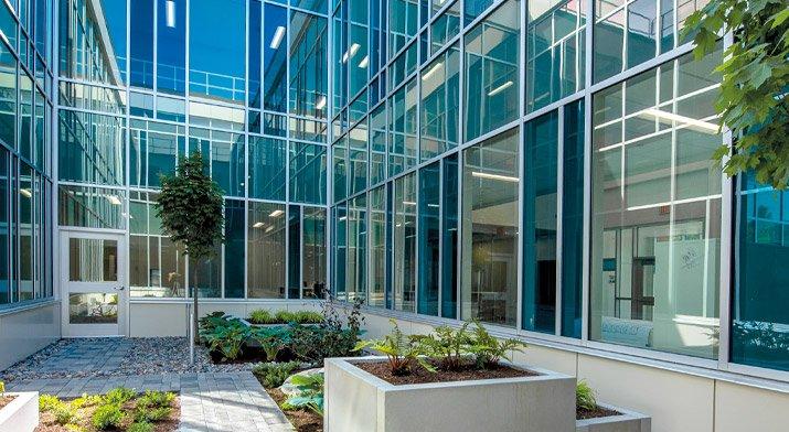 Addiction Treatment Services - New Bldg Courtyard - June 2021
