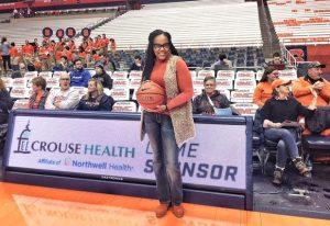 Twiggy Eure at SU Basketball Game